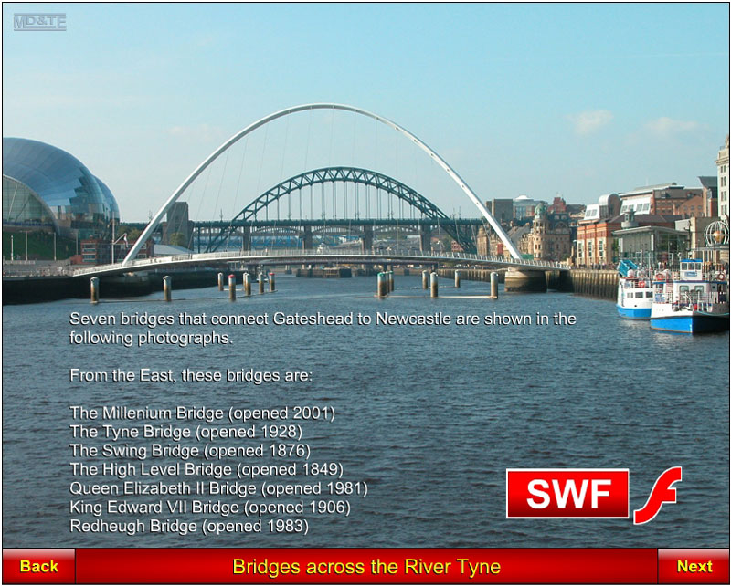 Link to Newcastle Bridges animation