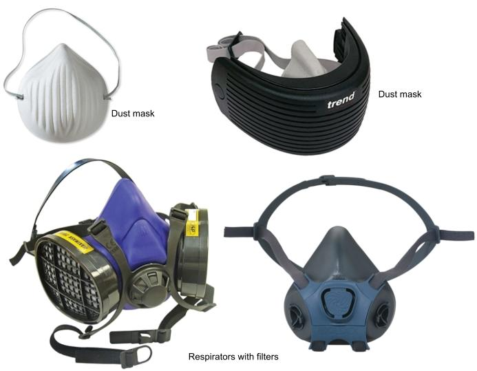 Dust masks and respirators