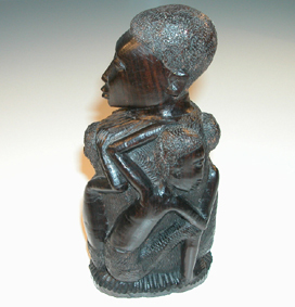 Kenyan wood carving - woman with child