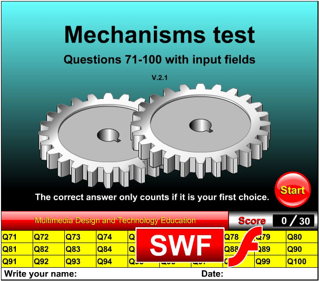 Mechanisms test questions 71-100