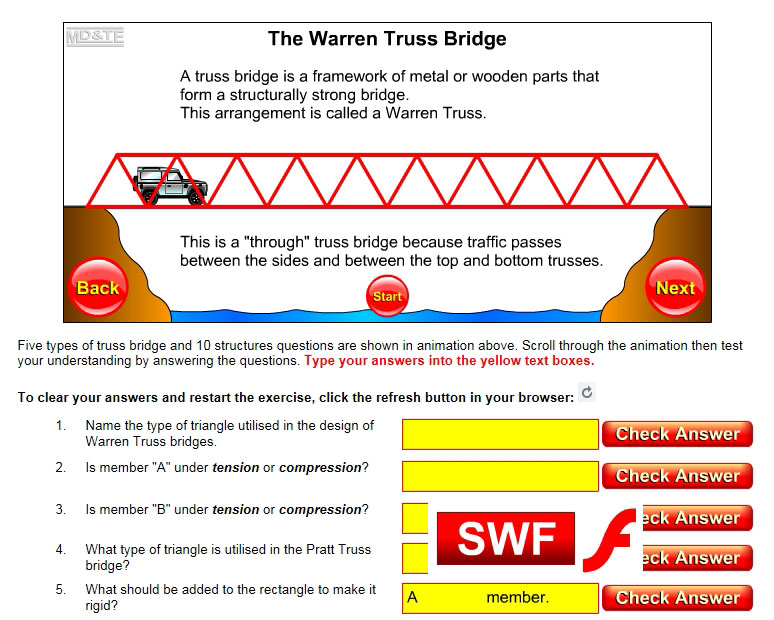 Truss bridge analysis exercise